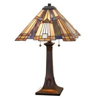 Quoizel Inglenook with Valiant Bronze Finish Table Lamp