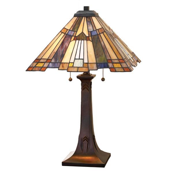 Quoizel Inglenook with Valiant Bronze Finish Table Lamp