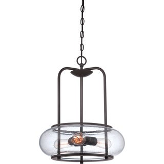 Trilogy Old Bronze Finish Vintage-inspired 3-light Pendant