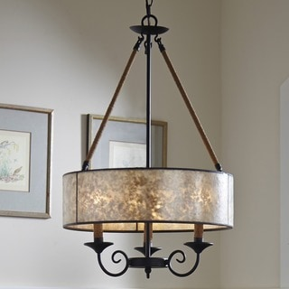 Quoizel Bandelier 3-light Imperial Bronze Pendant with Mica Shade