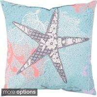 Light Blue Ocean Indoor/ Outdoor-Safe Decorative Throw Pillow