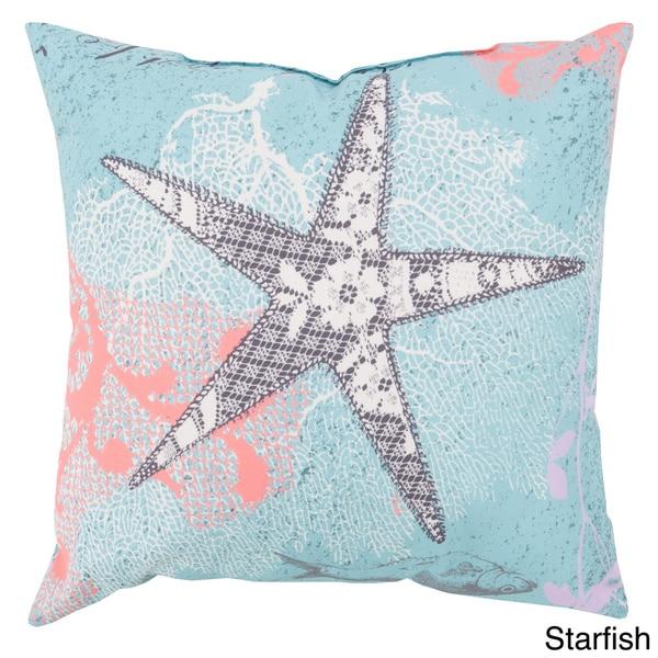 Light Blue Ocean Indoor/Outdoor-Safe Decorative Throw Pillow