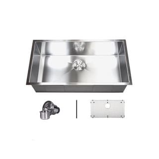 36' Single Bowl 16 Gauge Undermount Zero Radius Kitchen Sink Basket Strainer / Grid Accessories