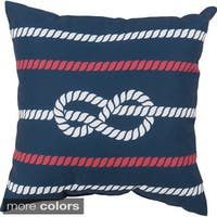 Sailors Knot Indoor/Outdoor-Safe Decorative Throw Pillow