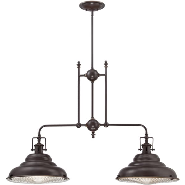 Kitchen Island Single Pendant Lighting: Shop Quoizel Eastvale Palladian Bronze Finish 2-light