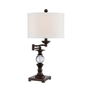 Quoize Portable Palladian Bronze Finish 24-inch Table Lamp