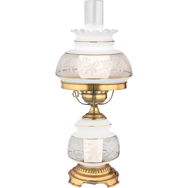 Quoizel Satin Lace 2-light French Gold Table Lamp