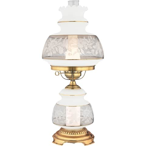 Quoizel Satin Lace 2-light Flemish Gold Table Lamp