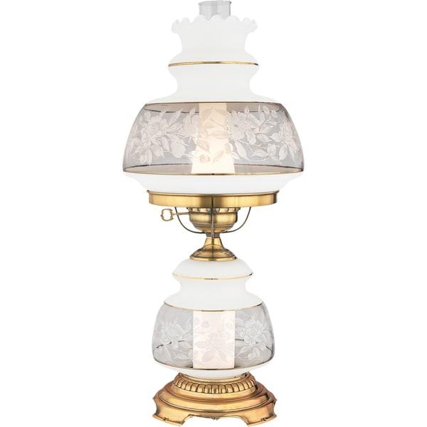 Quoizel Satin Lace 2-light Flemish Gold Table Lamp