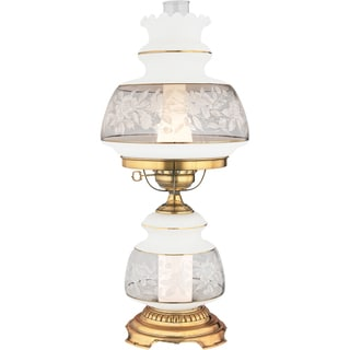 Satin Lace 2-light Flemish Gold Table Lamp