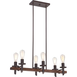 Quoizel Tavern 6-light Darkest Bronze Island Pendant