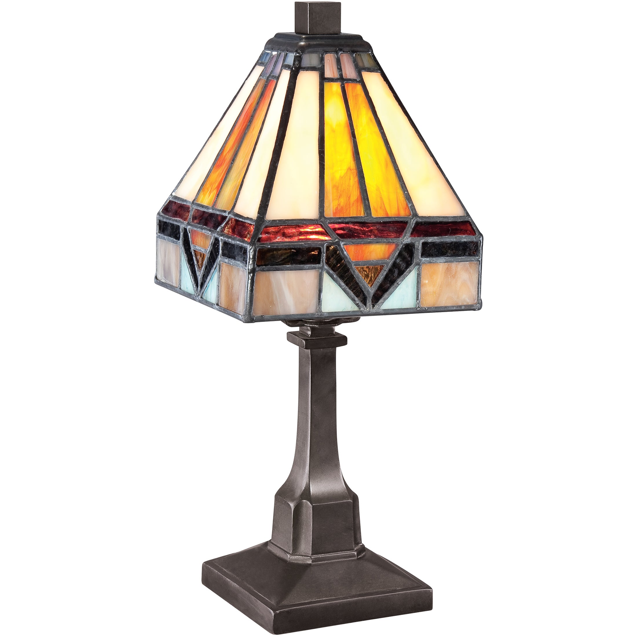 Quoizel Tiffany-style Holmes 1-light Vintage Bronze Desk Lamp