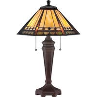 Quoizel Tiffany-style Arden 2-light Vintage Bronze Table Lamp