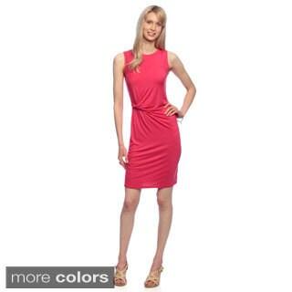 Amelia Women's Side Twist Sleeveless Knit Dress