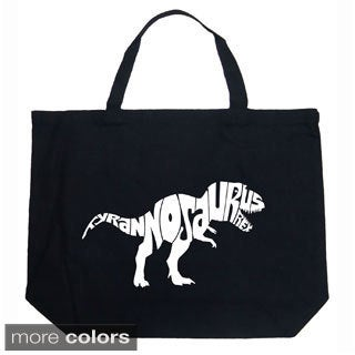 LA Pop Art Tyrannosaurus Rex Text Shopping Tote Bag