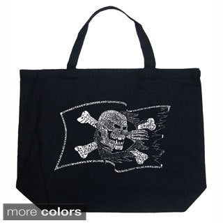 LA Pop Art Pirate Flag Shopping Tote Bag