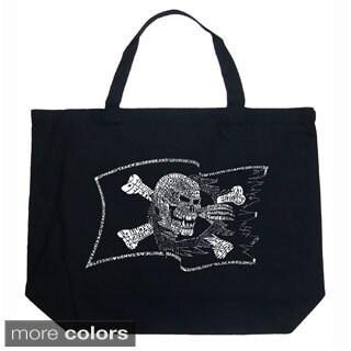 LA Pop Art Pirate Flag Shopping Tote Bag