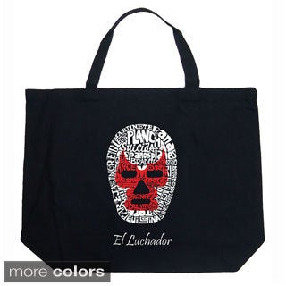 LA Pop Art Luchador Wrestling Mask Shopping Tote Bag