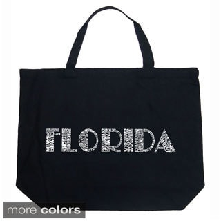 LA Pop Art Florida Cities Shopping Tote Bag