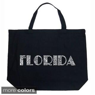 LA Pop Art Florida Cities Shopping Tote Bag