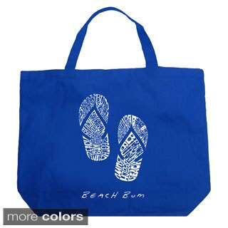 LA Pop Art Beach Bum Flip Flops Shopping Tote Bag (4 options available)