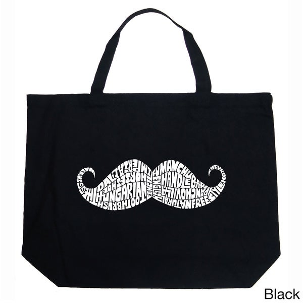 LA Pop Art Moustache Shopping Tote Bag