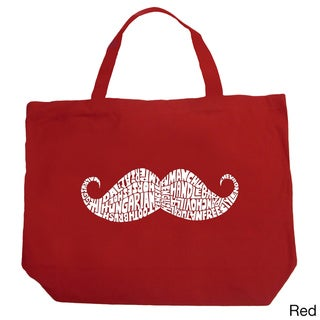 LA Pop Art Moustache Shopping Tote Bag
