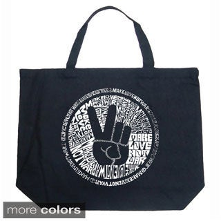 LA Pop Art Make Love Not War Shopping Tote Bag
