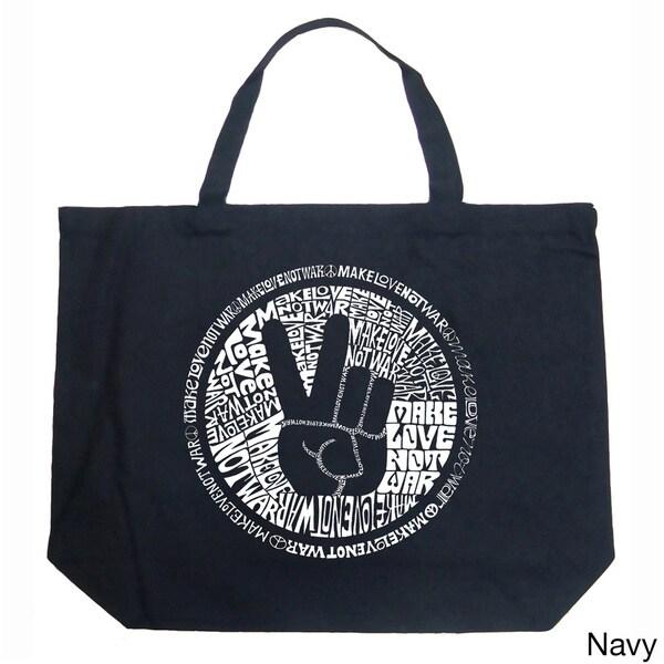 LA Pop Art Make Love Not War Shopping Tote Bag