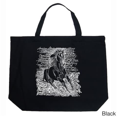 LA Pop Art Horse Breeds Shopping Tote Bag