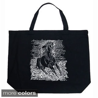 LA Pop Art Horse Breeds Shopping Tote Bag
