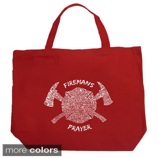 LA Pop Art Fireman's Prayer Shopping Tote Bag
