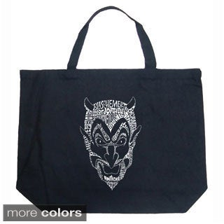 LA Pop Art Devil Shopping Tote Bag