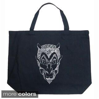 LA Pop Art Devil Shopping Tote Bag