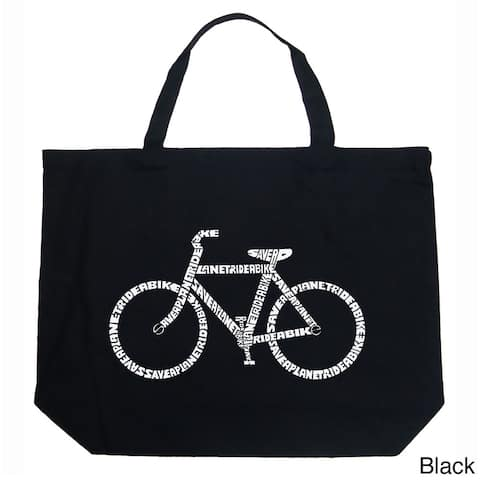 LA Pop Art Save a Planet, Ride a Bike Shopping Tote Bag