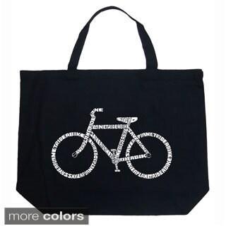 LA Pop Art Save a Planet, Ride a Bike Shopping Tote Bag