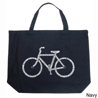 LA Pop Art Save a Planet, Ride a Bike Shopping Tote Bag (4 options available)