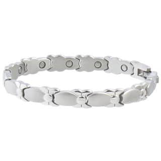 Sabona Lady Silver Bows Magnetic Bracelet|https://ak1.ostkcdn.com/images/products/8965255/P16174922.jpg?impolicy=medium