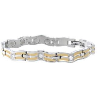 Sabona Lady Serpentine Silver Magnetic Bracelet