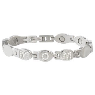 Sabona 'Mom' Stainless Gem Magnetic Bracelet