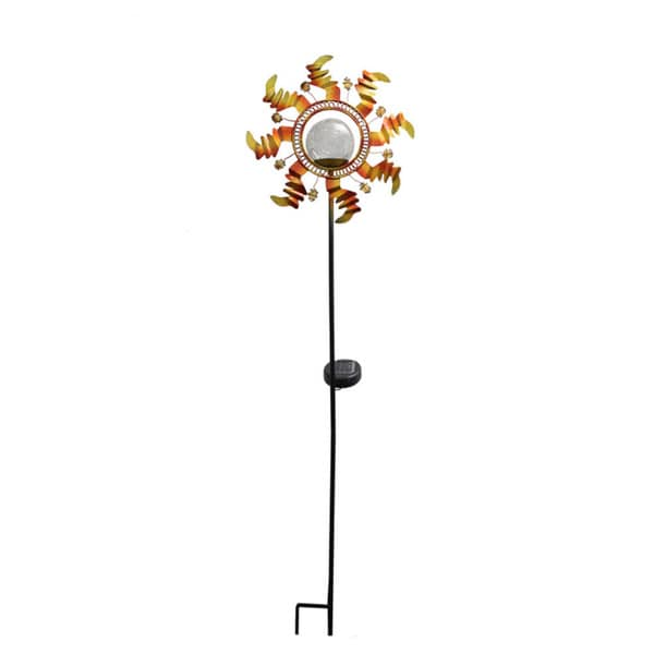 Metal Sunflower Solar Color Change Garden Light