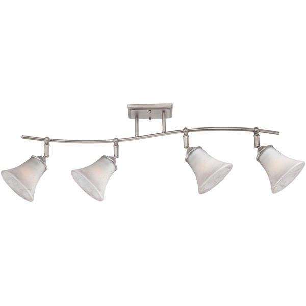 Shop quoizel duchess antique nickel finish 4 light fixed track light quoizel duchess antique nickel finish 4 light fixed track light mozeypictures Image collections