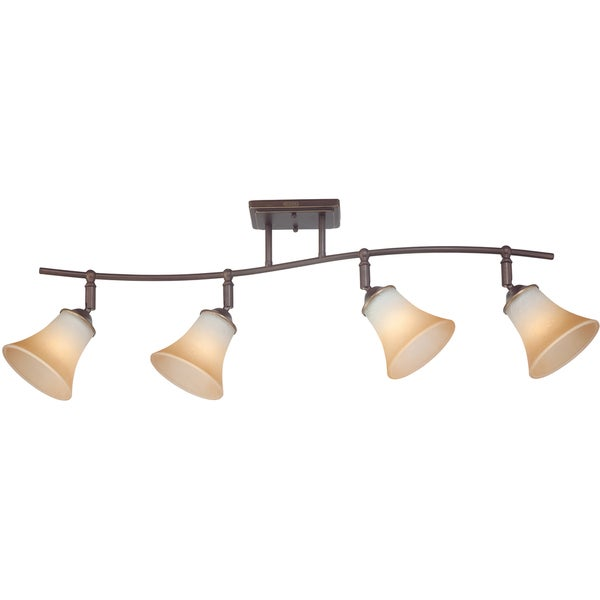 Copper Grove Kresna Bronze Finish 4-light Fixed Track Fixture. Opens flyout.