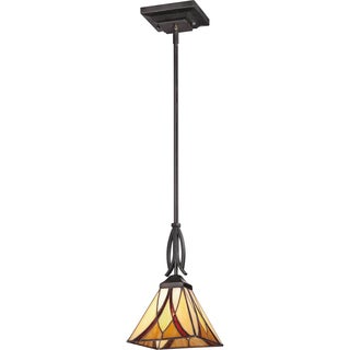 Quoizel Asheville Valiant Bronze Finish Rod Hung Mini Pendant