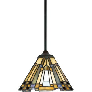 Quoizel Inglenook Valiant Bronze Finish Rod Hung Mini Pendant