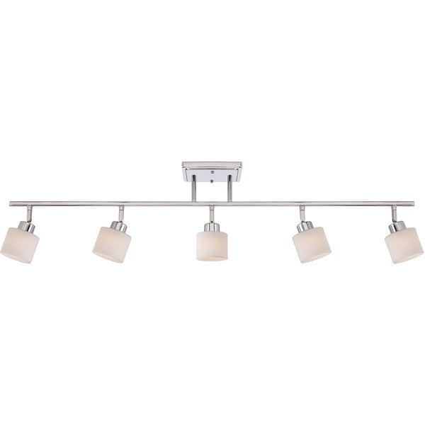 Quoizel Pacifica Polished Chrome Finish 5 Light Fixed Track
