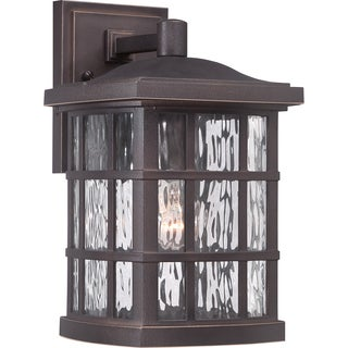 Quoizel Coastal Armour Stonington Palladian Bronze Finish Medium Wall Lantern