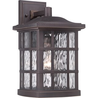 Stonington 1-light Palladian Bronze Large Wall Lantern