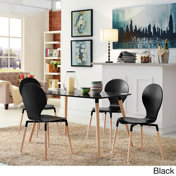 Path Beech Wood Dining Mid-century Style Chair (Set of 4)