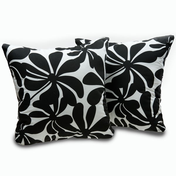 Black and White Twirl Decorative Throw Pillows (Set of 2) - Free Shipping On Orders Over USD45 ...